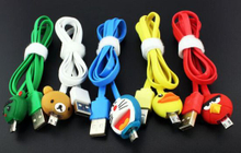 LED Cartoon Cable for Android Cellphone 1.0m